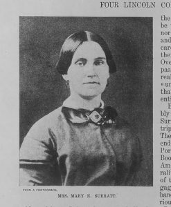 A grainy black and white photo of Mary Surratt - Whose ghost still haunts her house in Washington D.C. today