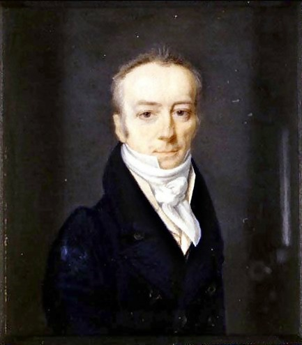 A dark painted portrait James Smithson, an aristocratic Englishman who was both a chemist and mineralogist and left a gift in his will that funded the Smithsonian, just to spite his family.