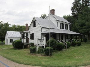 A sideview of the Weems-Boots Museum